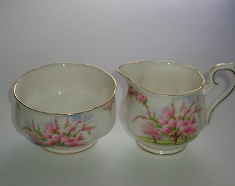 Royal Albert BLOSSOM TIME Large Cream and Open Sugar