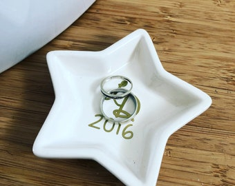Personalized ring bearer Bowl star