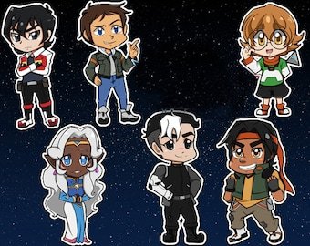 Space Lion Pilots Stickers & Keychains