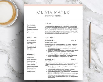 Creative Resume Template For Word U0026 Pages (1, 2, 3 Page Cv Template