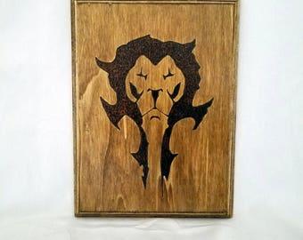 H&A Lion Sheild Plaque