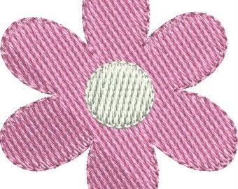 Mini plain jane daisy machine embroidery designs