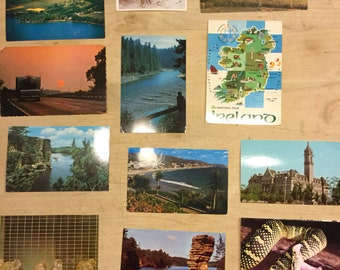 Vintage Set of Postcards from the 1970s