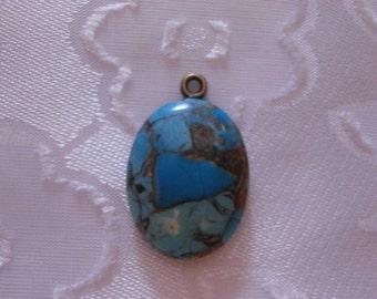 Beautiful, Sky Blue/Bronze Turquoise Gemstone Pendant, Bridal Jewelry, Something Blue, Gemstone Pendant, Gemstone Jewelry, Womens Jewelry