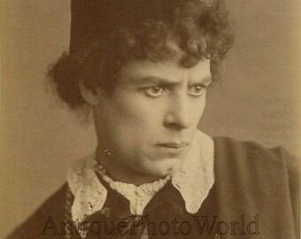 English actor Rodney as Romeo antique albumen Shakespeare theater photo
