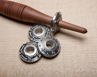 Medieval Style Pewter Spindle Whorl | Hand Cast | Pewter