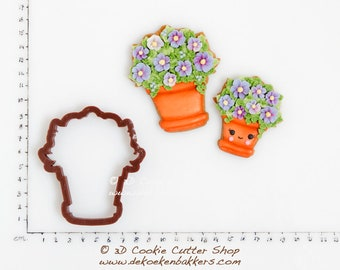 Pot of Flowers Cookie Cutter