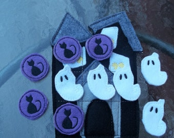 Haunted  House Tic Tac Toe : Halloween.  Halloween Game.  Tic Tac Toe. Party Favor.