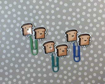 Day Planner Paper Clips • Kawaii Toast • LIMITED RUN