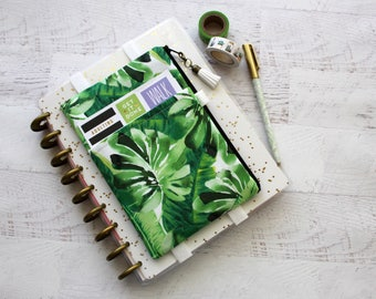 Planner Pencil Pouch -  Planner Cover Pouch -  Palm Leaves -  Planner Bag - Pocket Planner Pouch - Palm Springs - Pen Pouch - Journal Cover