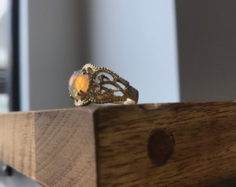 Vintage Style Opal Ring