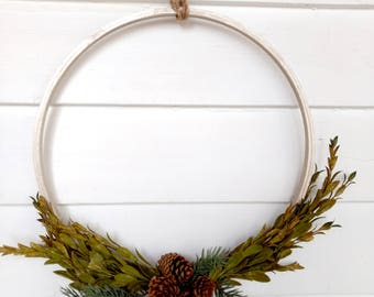 Embroidery hoop | Winter Wreath | Christmas Wreath