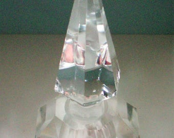 Clear Glass Perfume Bottle with Spire Stopper - 5407