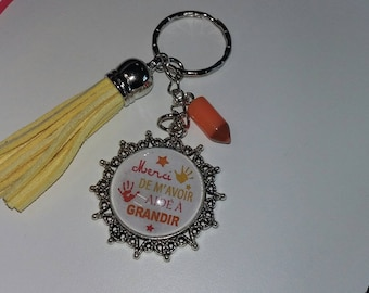 Keychain thank you for helping to grow