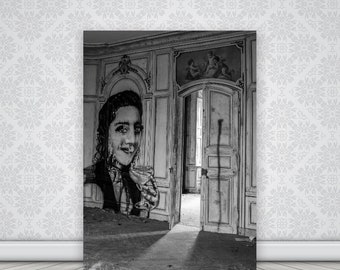 Print The dancing room  in an old abandoned french castle, abandoned house, urbex, french castle, wall art, home decoration, original gift