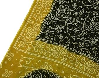 Beautiful Indian Cotton Saree Dress Wrap Beautiful Work Wrap Deco Fabric Recycle Curtain Drape 5YD Sari PCS1284
