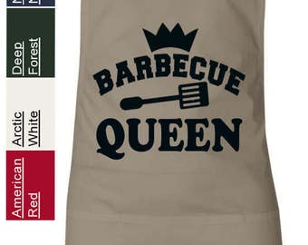 Barbecue Queen BBQ QUEEN Grilling Apron Funny Humor Featherlite 6013 Cooking Apron