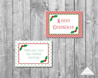 Printable Christmas Labels, Christmas Printables, Mistletoe Labels, Editable Labels, Printable Gift Tags, Instant Download