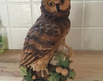 Long Eared Owl Figurine