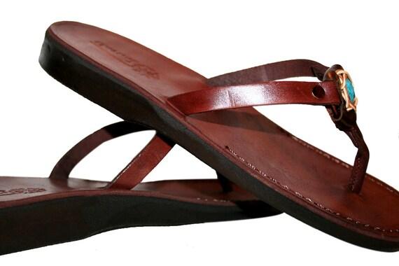 Sandals Women Decor Sandals Genuine Flip Unisex For Leather Jesus Sandals Sandals Skinny amp; Handmade Sandals Brown Flop Leather Men OZqdn0qa