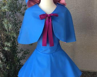 Fairy Godmother costume apron dress with cape