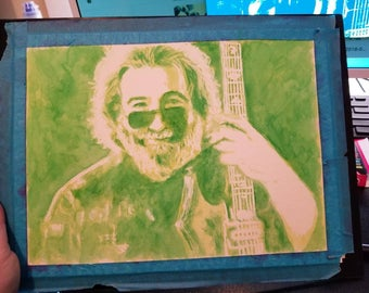 Printed watercolor Jerry Garcia Painting