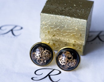 Gear and Resin Cufflinks