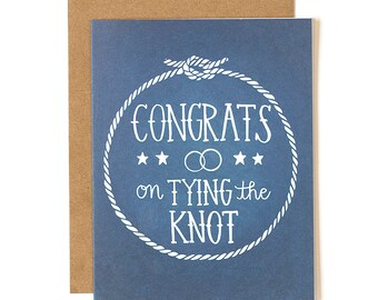Congrats on Tying the Knot Illustrated Card // 1canoe2