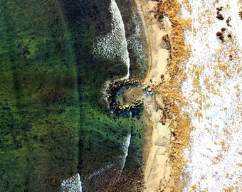 Drone Photography Beach Waves Above Colorful Norway Nature Aerial