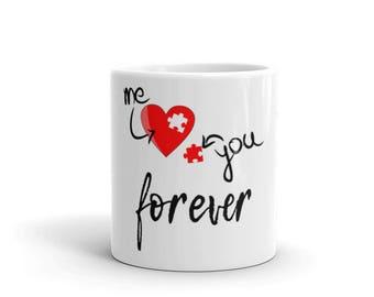 Valentine Coffee Mug - Valentines Day Mug - Valentines Gift Coffee Mug - Valentine's Day Gift Mug You and Me - Heart Mug - Love Coffee Mug