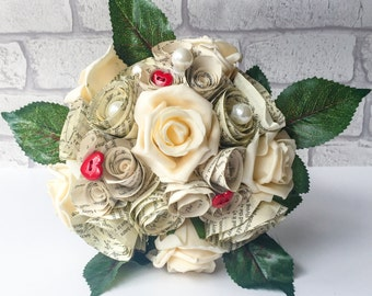 Paper flower bouquet bridal bridesmaid paper bouquet wedding