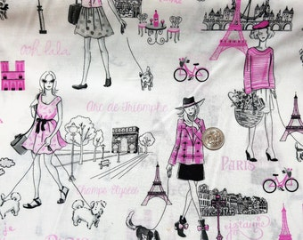 Fabric BTY  Diva Paris Pink
