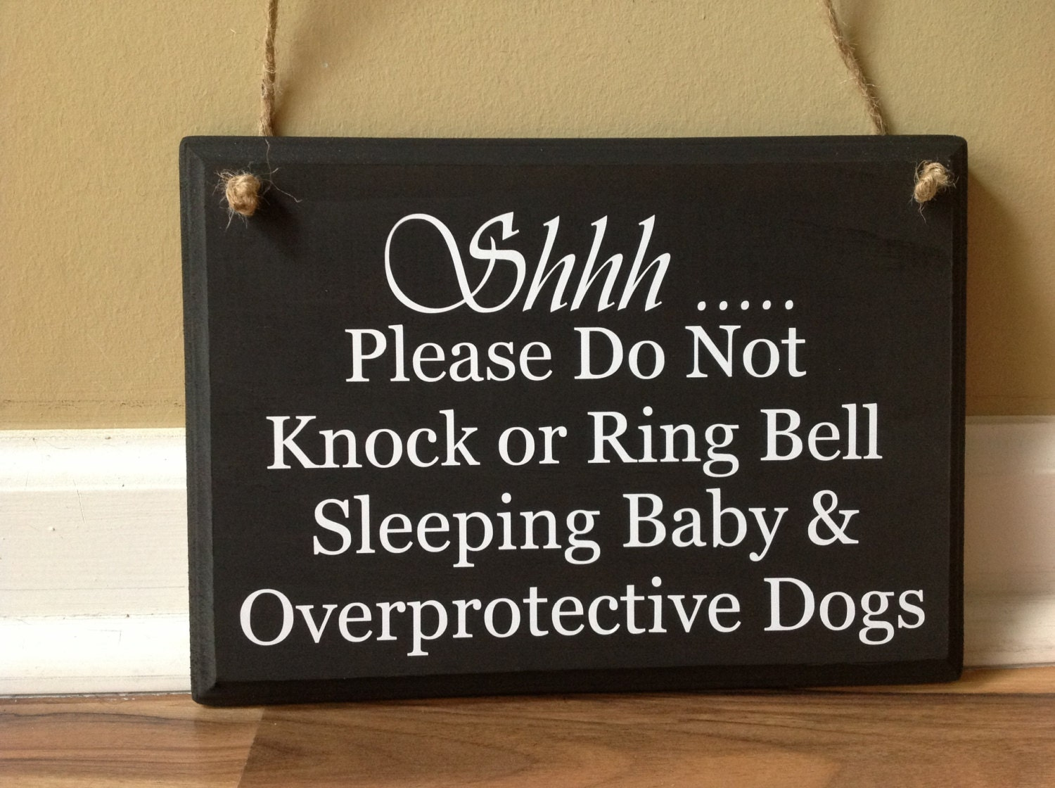 Shhh Please Do Not Knock Or Ring Bell Sleeping Baby