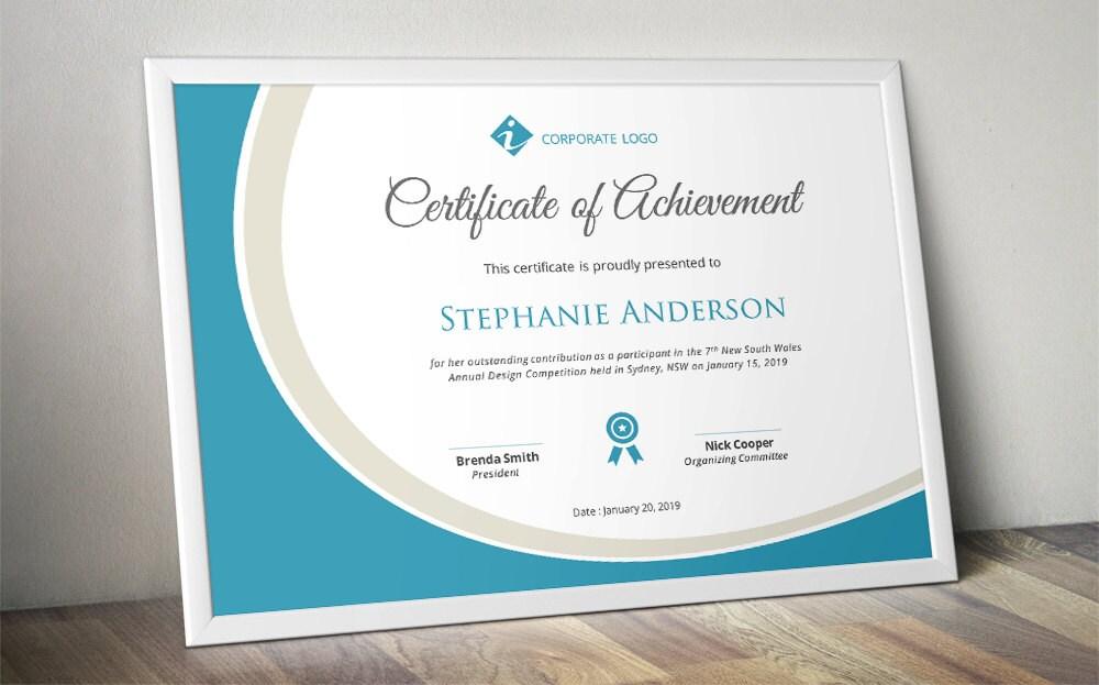 🔎zoom  Corporate Certificate Template