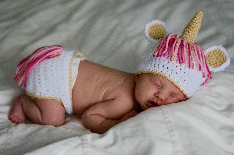 Einhorn Baby Einhorn-Hut für Baby Neugeborene Einhorn