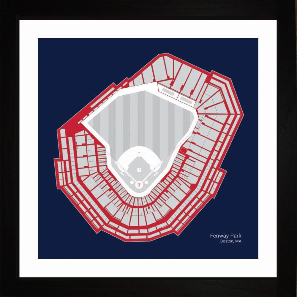 Fenway Park Boston Red Sox impresión del arte de asientos