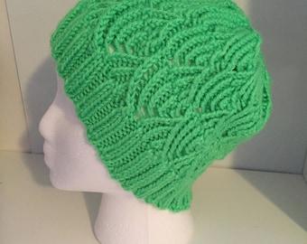 Handknit Lacy Hat