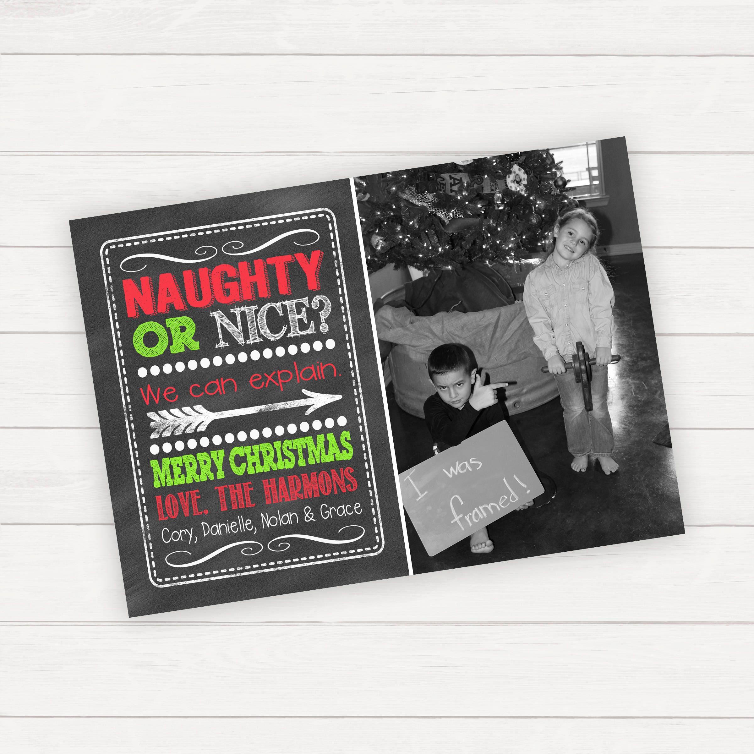 Naughty or nice christmas cards kids christmas cards christmas zoom kristyandbryce Gallery