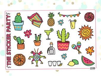 Summer Planner Stickers Summer Fiesta