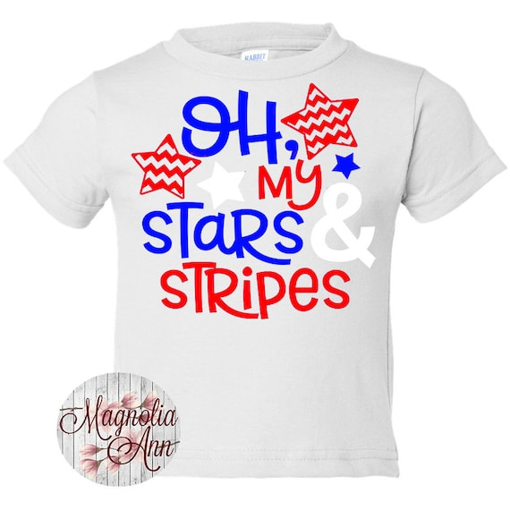 Oh My Stars And Stripes, Kids Patriotic Shirt, Kids 4th of July Shirt, Patriotic Shirt, 4th of July Outfit, Red White Blue Shirt. Baby Tee