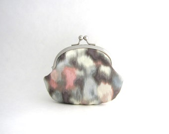 Coin Purse - Change Pouch- Kiss Lock Coin Case- Watercolor Pastel