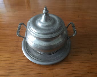 Tin - french craft - Vintage soup tureen