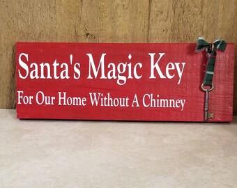 Santa's Magic Key Sign