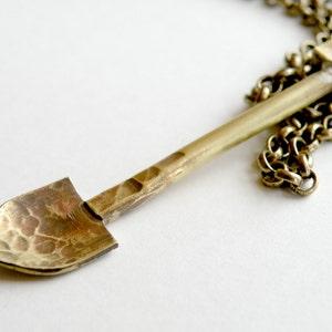 Brass Shovel Necklace