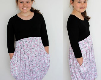 Darcy dress pattern, girls dress pattern, girls pattern, tween dress pattern, girls sewing pattern, girls dress pdf, girls pdf pattern