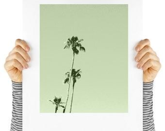 Modern art palm tree print, digital download, instant art, palm springs,  desert,  palm tree print, palm tree poster, palm trees on green