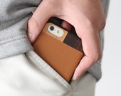 Leather iPhone 6 Case, iPhone 6 Tan Leather Case, iPhone 6s Case - LTR-TN-I6