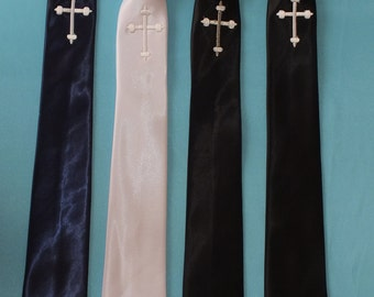 Navy-white-black boys First  Communion Ties!