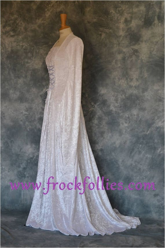 Medieval Cloak And DressHandfasting Dress CloakElvishRenaissancePaganPre RaphaeliteCustom Made Wedding Gown