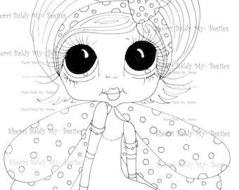 INSTANT DOWMLOAD Digital Digi Stamps Big Eye Big Head Dolls Digi  My Besties IMG858 By Sherri Baldy